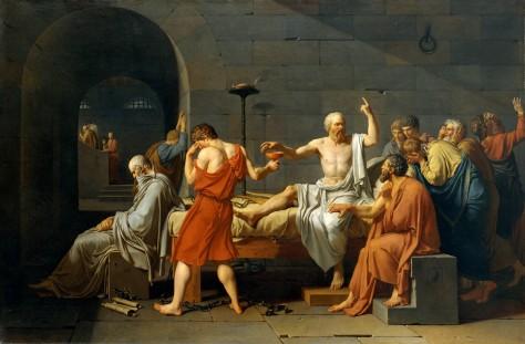 Jacques-Louis David,  La Mort de Socrate (źródło: wikipedia)